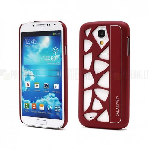 Samsung Galaxy S IV modernus raudonas dėklas (dėkliukas, nugarėlė)