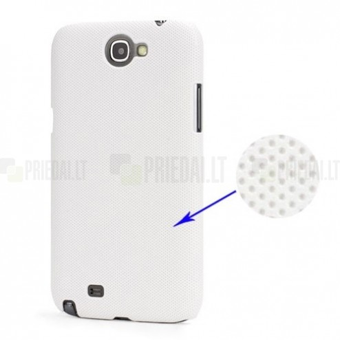 Baltas plastikinis Samsung Galaxy Note 2 N7100 dėklas (dėkliukas, nugarėlė)