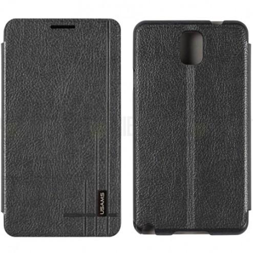 """""""Usams"""" Starry Sky juodas atverčiamas Samsung Galaxy Note 3 (N9005, N9002, N9000) dėklas (dėkliukas)"""