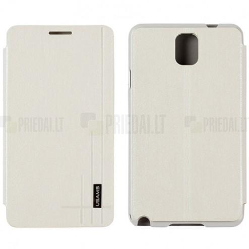 """""""Usams"""" Starry Sky baltas atverčiamas Samsung Galaxy Note 3 (N9005, N9002, N9000) dėklas (dėkliukas)"""
