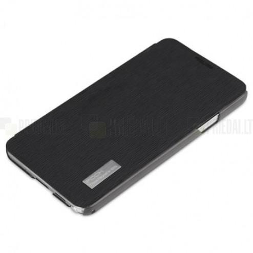"""""""ROCK"""" Elegant juodas atverčiamas Samsung Galaxy Note 3 N9005 dėklas (dėkliukas)"""