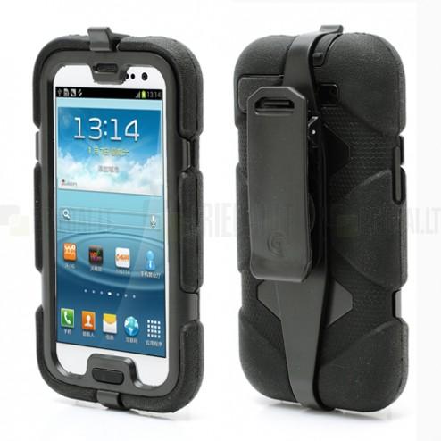 """""""Griffin"""" Survivor juodas Samsung Galaxy S3 dėklas (dėkliukas)"""