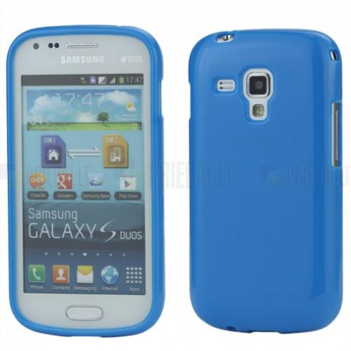 Mėlynas silikoninis TPU Samsung Galaxy S Duos S7562 (Samsung Galaxy Trend S7560) dėklas (dėkliukas)