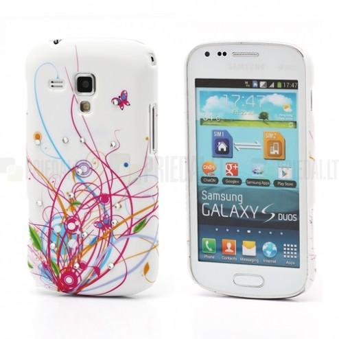 Raštuotas plastikinis Samsung Galaxy S Duos S7562 (Samsung Galaxy Trend S7560) dėklas (dėkliukas)