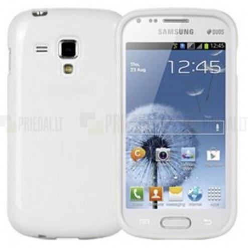 Baltas silikoninis TPU Samsung Galaxy S Duos S7562 (Samsung Galaxy Trend S7560) dėklas (dėkliukas)