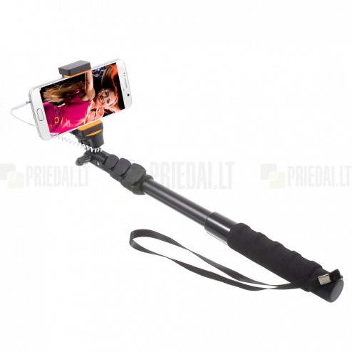 """""""Selfie Stick"""" XL teleskopinė asmenukių fotogravimo lazda (laikiklis) - monopod"""
