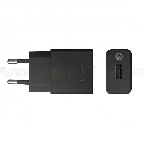 """Originalus """"Sony"""" Quick Charger UCH10 juodas kelioninis (sieninis) įkroviklis EU (1800 mAh, 1700 mAh, 1275 mAh)"""