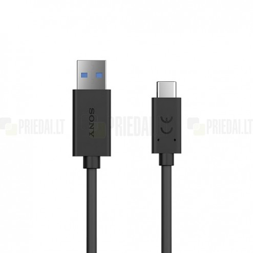 "Oficialus ""Sony"" Fast Charging Type-C USB raudonas laidas 1 m (UCB30, originalus)"