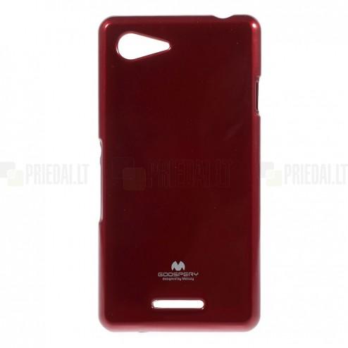 Sony Xperia E3 raudonas Mercury kieto silikono (TPU) dėklas