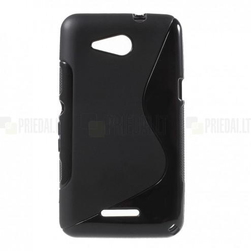 Sony Xperia E4g kieto silikono TPU juodas dėklas - nugarėlė