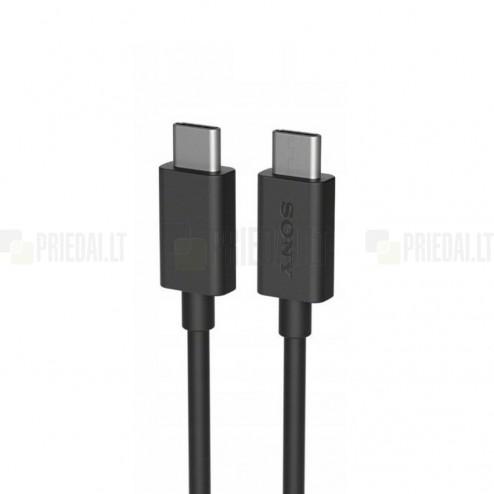 Oficialus Sony Type-C Type-C juodas laidas 1 m (UCB24, originalus)