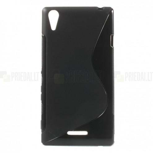 Sony Xperia T3 S-Line kieto silikono (TPU) dėklas - nugarėlė