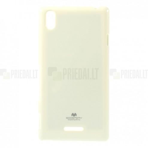 Sony Xperia T3 baltas Mercury kieto silikono (TPU) dėklas