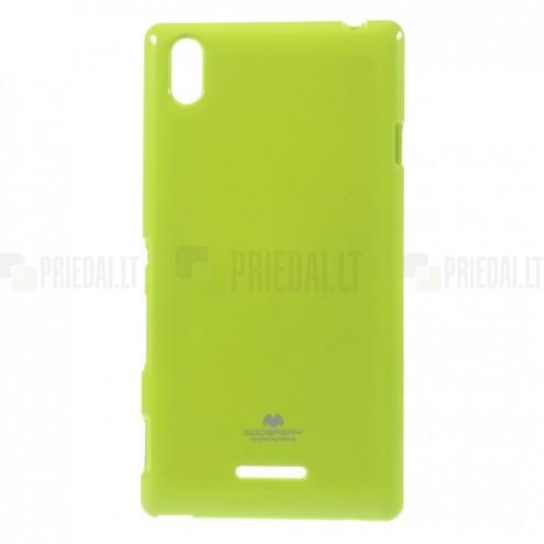 Sony Xperia T3 žalias Mercury kieto silikono (TPU) dėklas