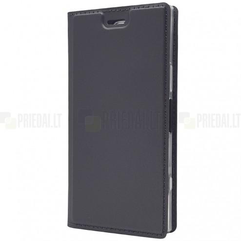 """""""Dux Ducis"""" Skin serijos Sony Xperia XZ1 Compact juodas odinis atverčiamas dėklas"""
