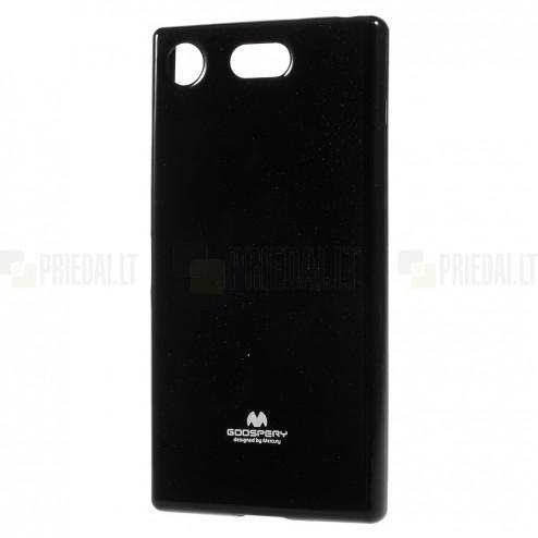Sony Xperia XZ1 Compact Mercury juodas kieto silikono TPU dėklas - nugarėlė