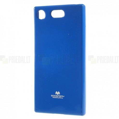 Sony Xperia XZ1 Compact Mercury mėlynas kieto silikono TPU dėklas - nugarėlė