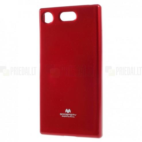 Sony Xperia XZ1 Compact Mercury raudonas kieto silikono TPU dėklas - nugarėlė
