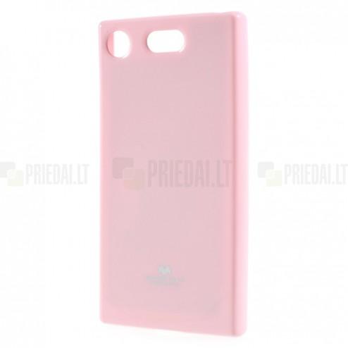 Sony Xperia XZ1 Compact Mercury rožinis kieto silikono TPU dėklas - nugarėlė