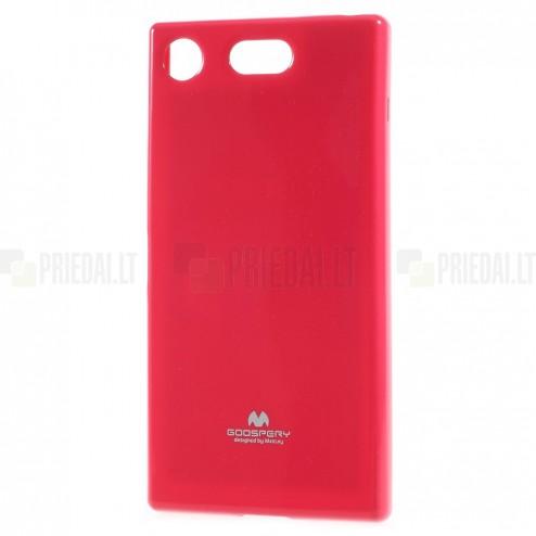 Sony Xperia XZ1 Compact Mercury tamsiai rožinis kieto silikono TPU dėklas - nugarėlė