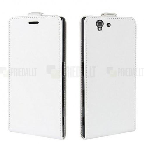 Atverčiamas Sony Xperia Z baltas dėklas