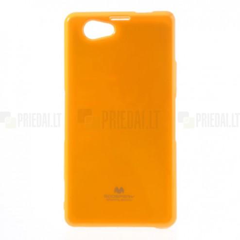 Sony Xperia Z1 Compact geltonas Mercury kieto silikono (TPU) dėklas