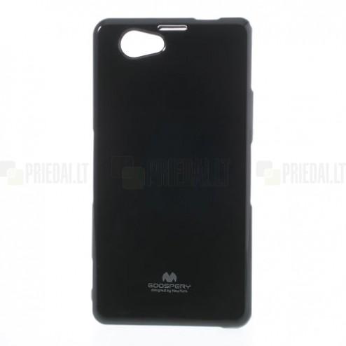 Sony Xperia Z1 Compact juodas Mercury kieto silikono (TPU) dėklas
