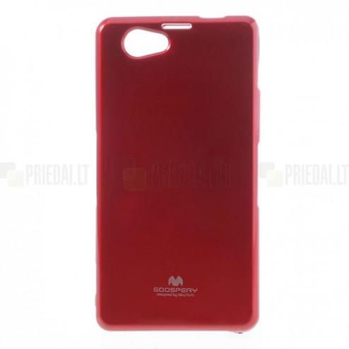 Sony Xperia Z1 Compact raudonas Mercury kieto silikono (TPU) dėklas