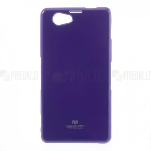Sony Xperia Z1 Compact violetinis Mercury kieto silikono (TPU) dėklas
