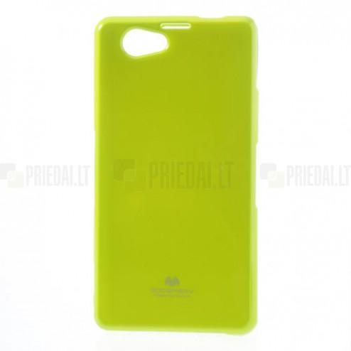 Sony Xperia Z1 Compact žalias Mercury kieto silikono (TPU) dėklas