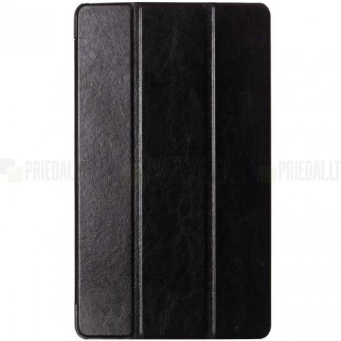Sony Xperia Z3 Tablet Compact atverčiamas juodas odinis dėklas (sulankstomas)