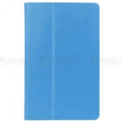 Sony Xperia Z3 Tablet Compact klasikinis atverčiamas šviesiai mėlynas odinis dėklas