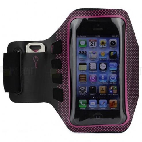 """""""Bubble"""" dėklas sportui (raištis ant rankos) - tamsiai rožinis, universalus (S dydis)"""