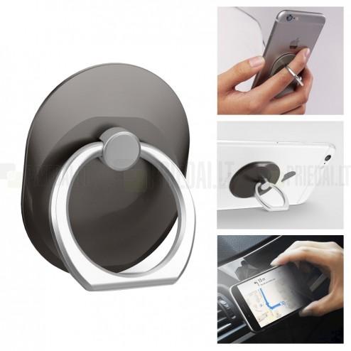 Ring telefono laikiklis - žiedas (prie nugarėlės) - juodas