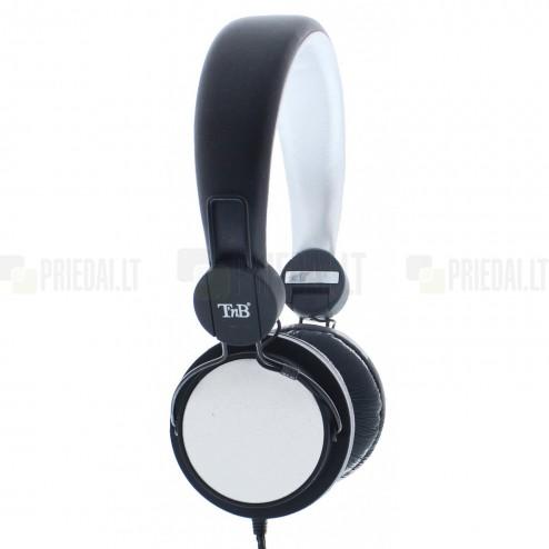 """""""TnB"""" Be Color Vinyl baltos ausinės su lankeliu (laisvų rankų įranga)"""