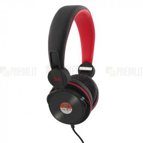 """""""TnB"""" Be Color Vinyl raudonos ausinės su lankeliu (laisvų rankų įranga)"""