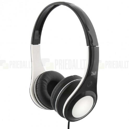 """""""TnB"""" Dotcom baltos ausinės su lankeliu (laisvų rankų įranga)"""