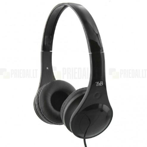 """""""TnB"""" Dotcom juodos ausinės su lankeliu (laisvų rankų įranga)"""