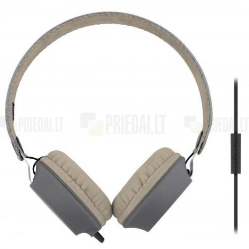 """""""TnB"""" Legend pilkos ausinės su lankeliu (laisvų rankų įranga)"""