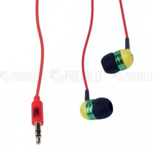 """""""T'nB"""" Music Trend Reggae raudonos įkišamos į ausis ausinės"""