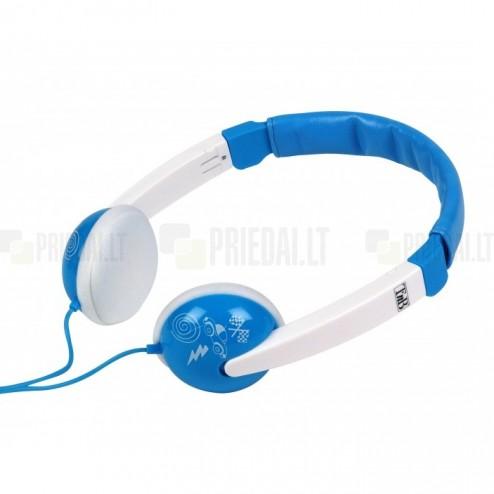 """""""T'nB"""" Kids Sound mėlynos ausinės su lankeliu vaikams"""