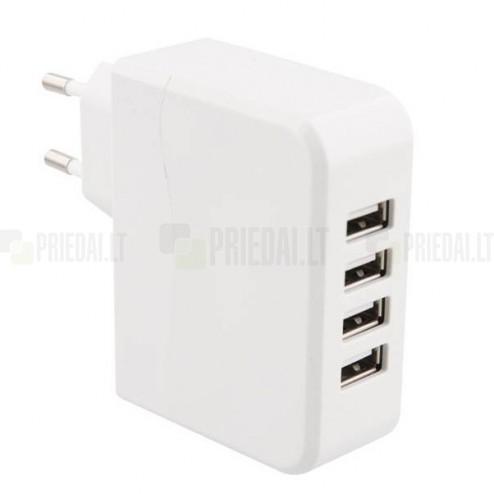 """""""T'nB"""" sieninis tinklo įkroviklis (pakrovėjas) su keturiais USB lizdais"""