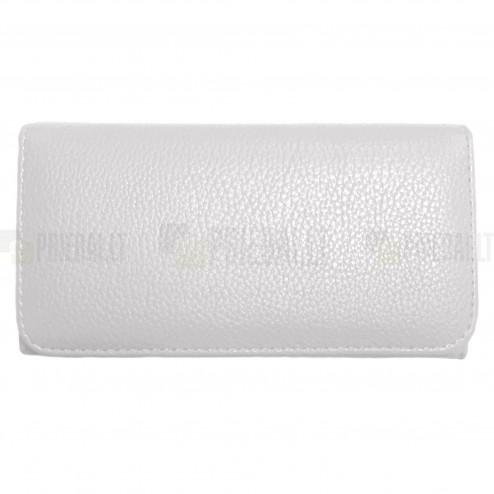 """""""Litchi"""" universali balta odinė telefono piniginė - dėklas (L dydis)"""
