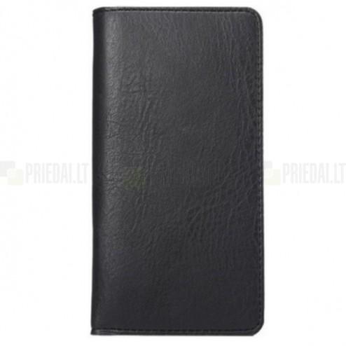 Solidi juoda odinė universali įmautė - piniginė (L dydis)