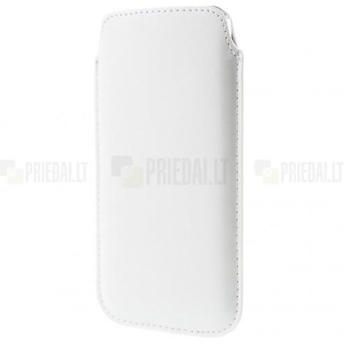 Universali balta odinė įmautė - dėklas (XL dydis)