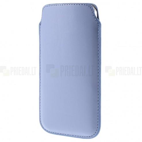 Universali šviesiai violetinė odinė įmautė - dėklas (XL dydis)