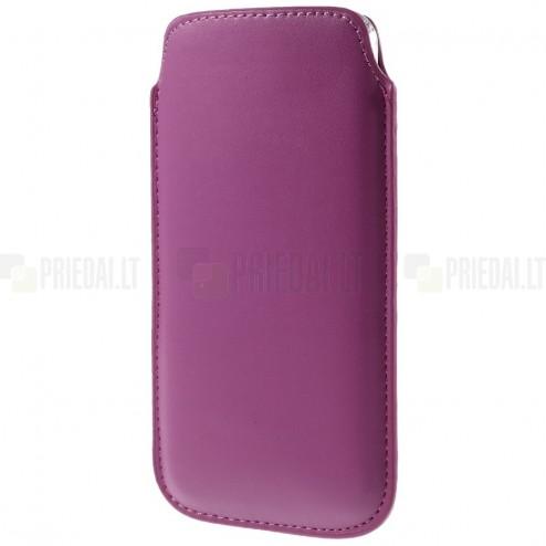 Universali tamsiai rožinė odinė įmautė - dėklas (XL dydis)