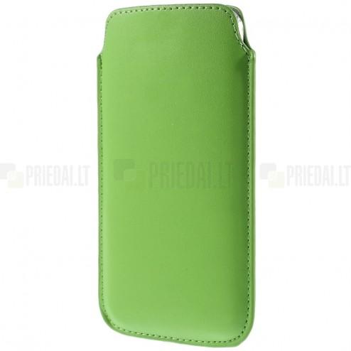 Universali šviesiai žalia odinė įmautė - dėklas (XL dydis)