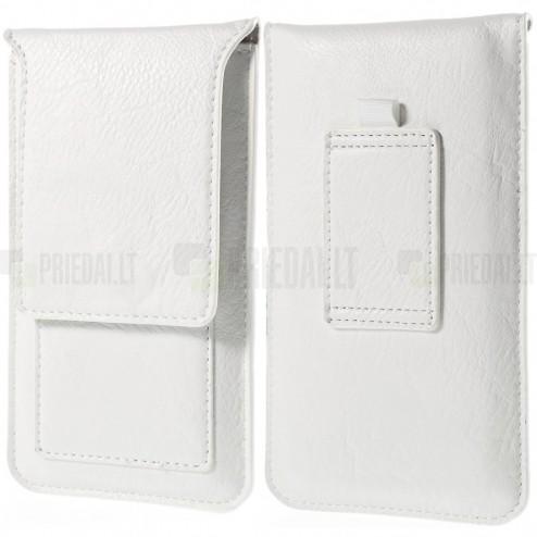 Apple iPhone 7 Plus Universalus dėklas prie diržo, vertikalus, baltas (XL+ dydis)