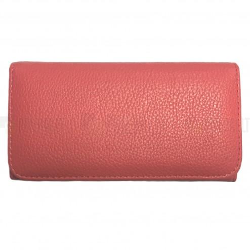 """""""Litchi"""" universali rožinė odinė telefono piniginė - dėklas (L dydis)"""